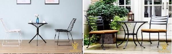 bộ bàn ghế sắt cafe giá rẻ