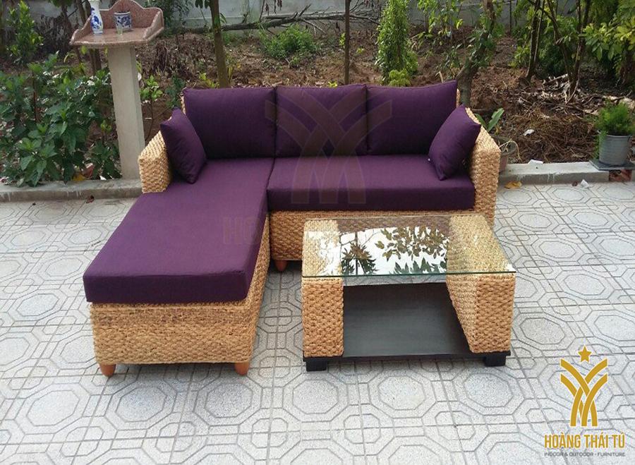 bàn ghế sofa mây tự nhiên - 3